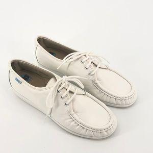 SAS White Siesta Comfort Shoes Size 7M EUC